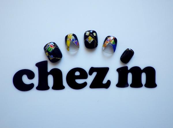 IMGP1407 nail art chez m kimono french noir