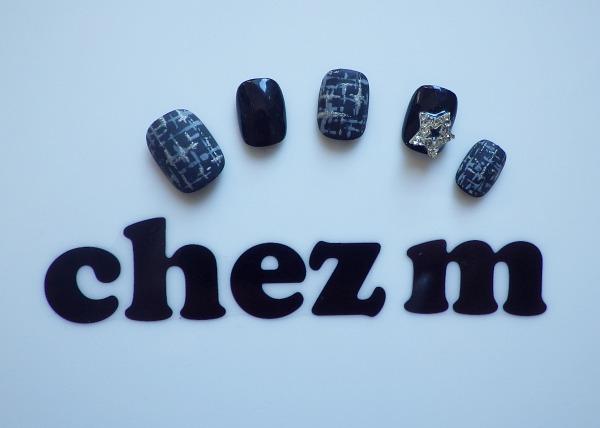 IMGP1420 modeles nail art tweed matt coat etoile