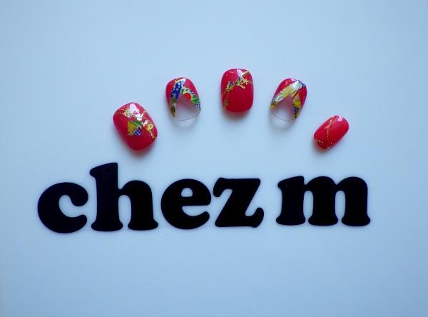 IMGP1421 modeles nail art de chez m kimono french rouge