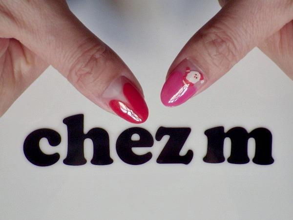 IMGP2100 modeles nail art noel pere noel coeurs french rouge
