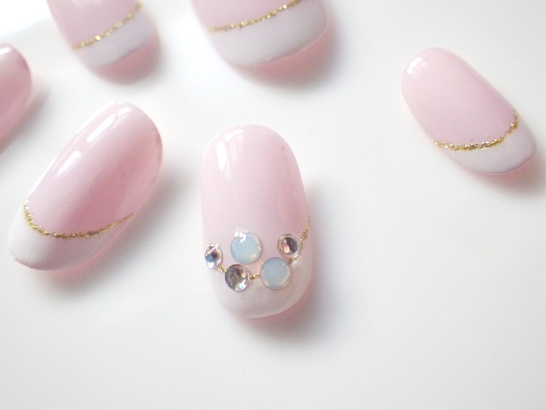 IMGP2320 ongle modeles ongles nail art nail salon a nantes french swarovski